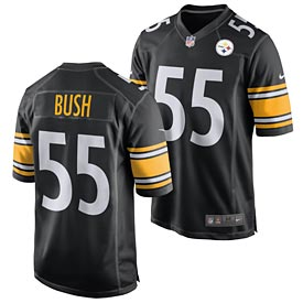 Pittsburgh Steelers Devin Bush Game Team Color Jersey