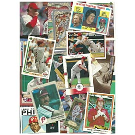 Philadelphia Phillies 50 Assorted Baseball Cards