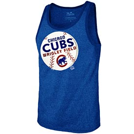 Chicago Cubs Triblend Logo Tank Top