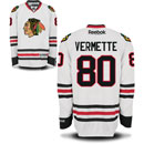 Chicago Blackhawks Antoine Vermette White Premier Jersey w/ Authentic Lettering