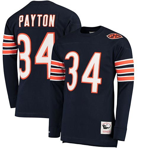 new concept 658aa d9e29 Chicago Bears 83 Walter Payton L/S Jersey Name and Number Tee