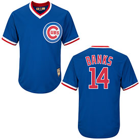 61140216a Chicago Cubs Ernie Banks Cooperstown Cool Base Replica Jersey