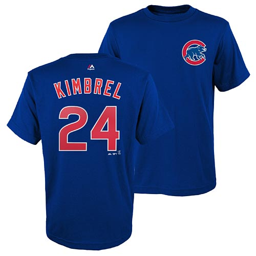 classic fit 7ef3a 60cbc Chicago Cubs Craig Kimbrel Youth Name and Number T- Shirt