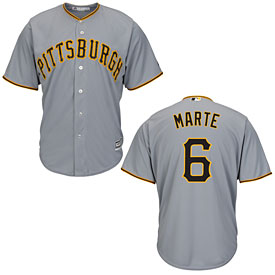 Pittsburgh Pirates Starling Marte Road Cool Base Replica Jersey
