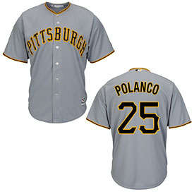 Pittsburgh Pirates Gregory Polanco Road Cool Base Replica Jersey