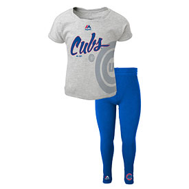 Chicago Cubs Youth Girls Shirt and Leggings Set