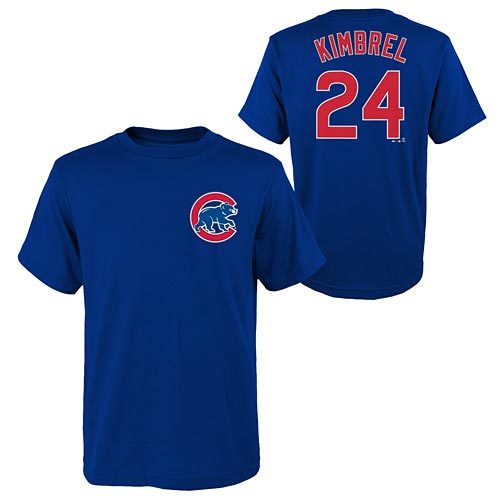 buy popular 96dc9 32108 Chicago Cubs Craig Kimbrel Name and Number Tee