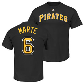 Pittsburgh Pirates Starling Marte Name and Number T-Shirt