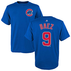 Chicago Cubs Javier Baez Toddler Name and Number T-Shirt