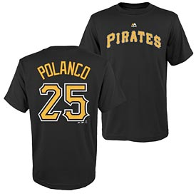 Pittsburgh Pirates Gregory Polanco Youth Name and Number T-Shirt