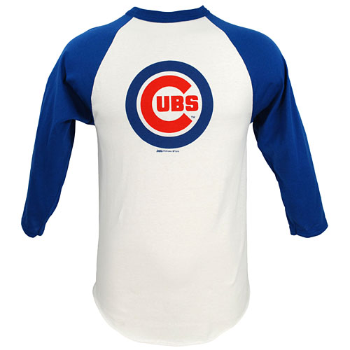 new concept ba4df 6456c Chicago Cubs Bullseye Logo Raglan Shirt