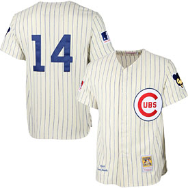 Chicago Cubs Authentic 1969 Ernie Banks Home Jersey