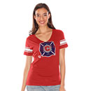 Chicago Fire Ladies First Pick V-Neck T-Shirt