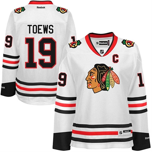 Chicago Blackhawks Ladies Jonathan Toews White Premier Jersey c1891cb48