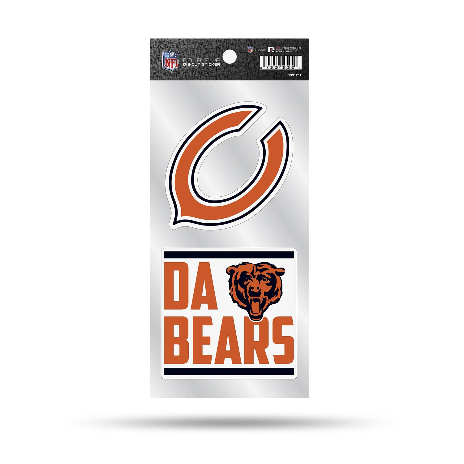 Chicago Bears Double-Up Decal
