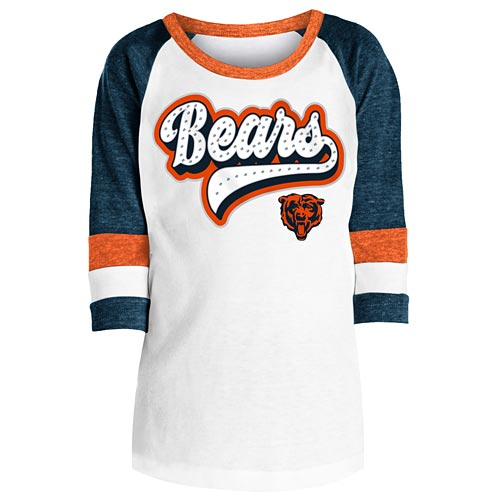 buy popular 1b238 aa0e8 Chicago Bears Girls Tri Blend 3/4 Raglan