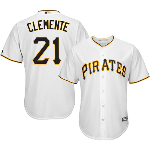 7c08ba882 Pittsburgh Pirates Roberto Clemente Youth Home Cool Base Replica Jersey