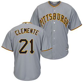 Pittsburgh Pirates Roberto Clemente Road Cool Base Replica Jersey