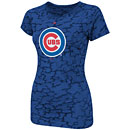 Chicago Cubs Ladies Pure Victory Cap Sleeve Burnout T-Shirt
