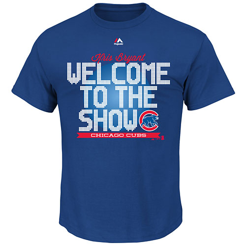 23d7adadca0 Chicago Cubs Kris Bryant Welcome to the Show T-Shirt
