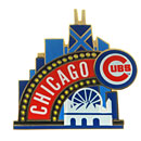 Chicago Cubs Skyline Collectible Souvenir Pin