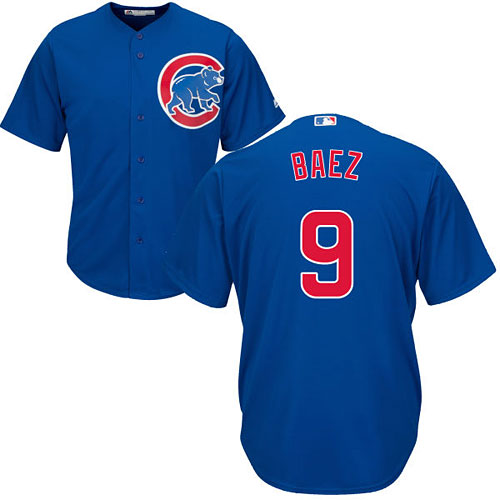 the latest 9bee9 edfa4 Chicago Cubs Javier Baez Youth Alternate Cool Base Replica Jersey