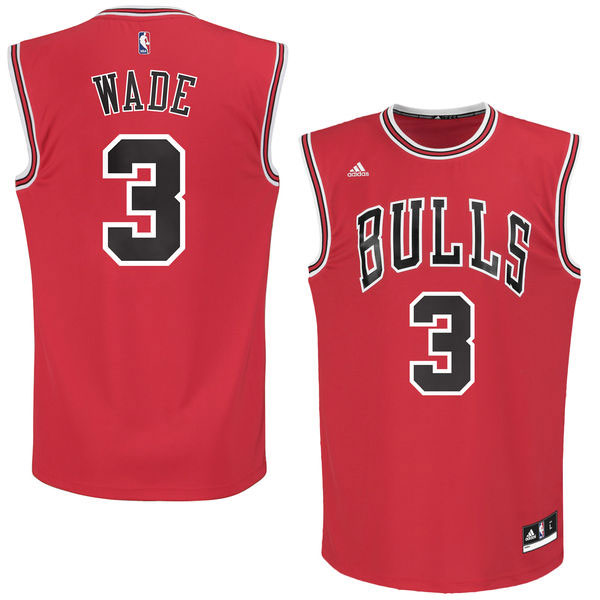 Chicago Bulls Dwyane Wade Youth Red Replica Jersey