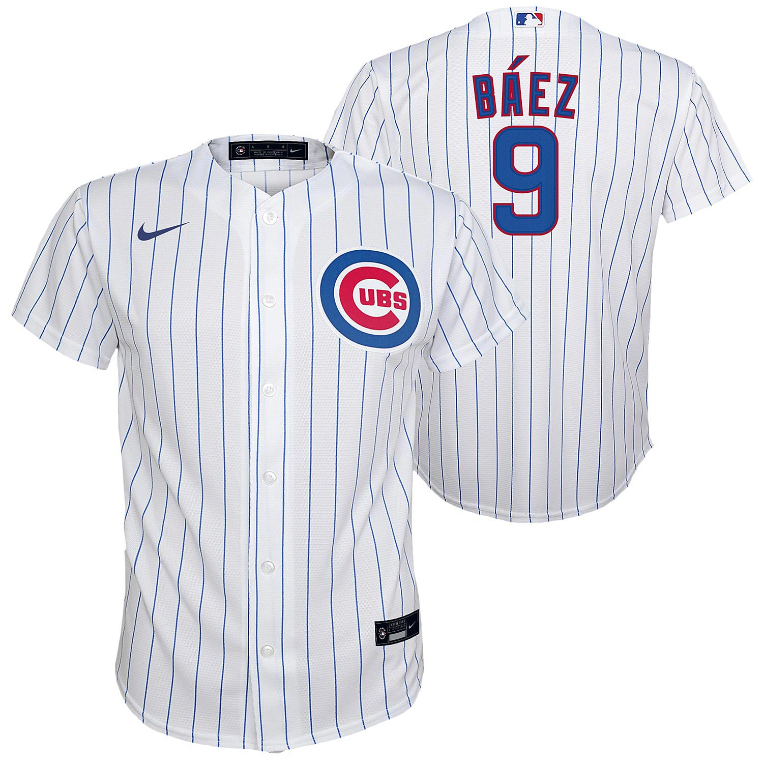 Chicago Cubs Javier Baez Youth Nike Home Twill Player Finished ...