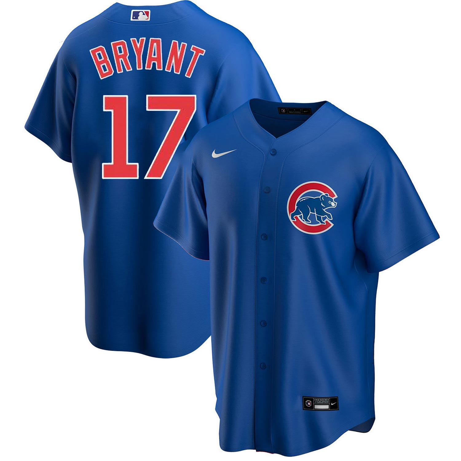 Chicago Cubs Nike Kris Bryant Alt Replica Jersey With Authentic ...