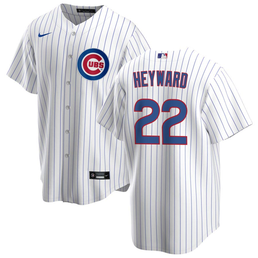Chicago Cubs Nike Jason Heyward Home Replica Jersey With Authentic ...