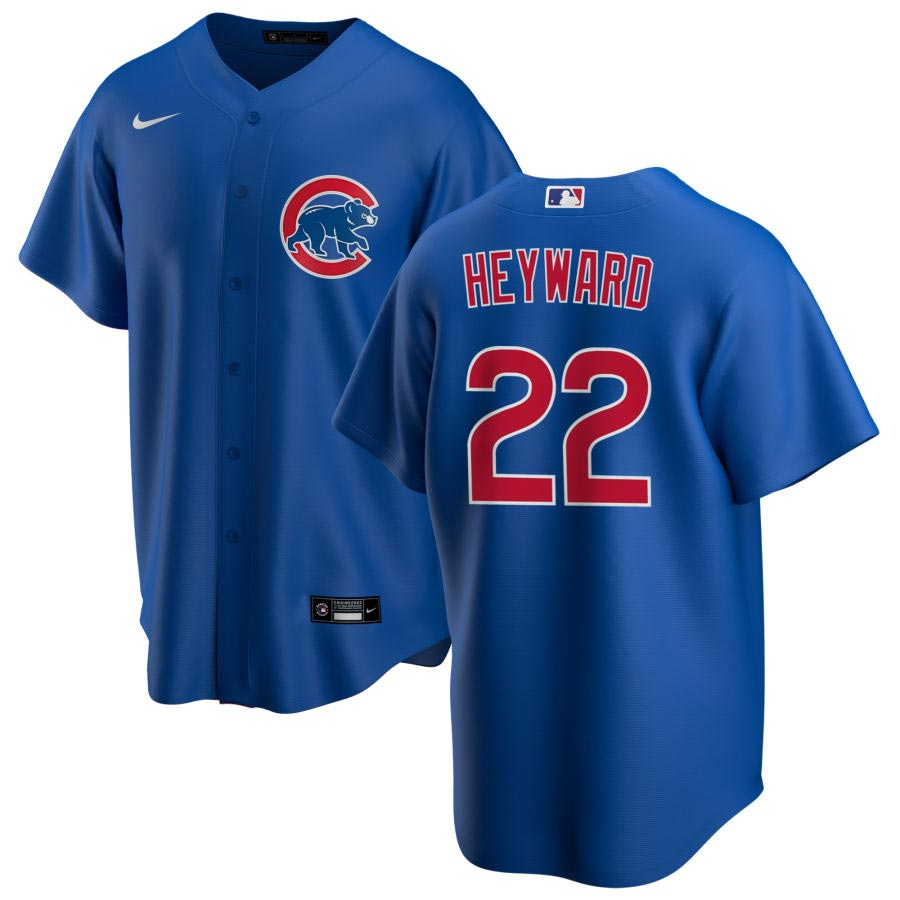 Chicago Cubs Nike Jason Heyward Alt Replica Jersey With Authentic ...