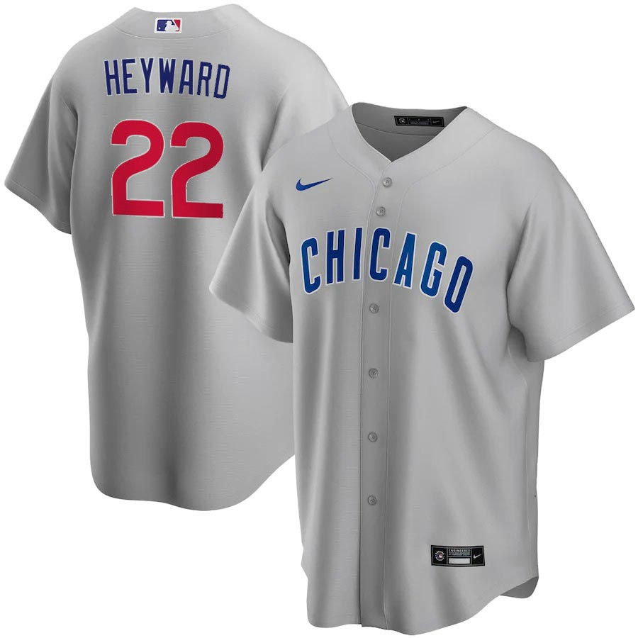 Chicago Cubs Nike Jason Heyward Road Replica Jersey With Authentic ...