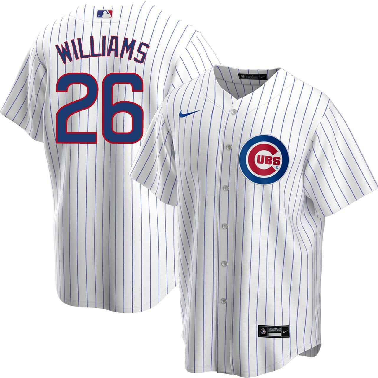 Chicago Cubs Billy Williams Home Nike Replica Jersey With ...