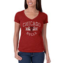 Chicago Bulls Ladies Red Scrum V-Neck T-Shirt