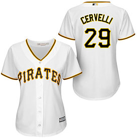 Pittsburgh Pirates Francisco Cervelli Ladies Home Cool Base Replica Jersey