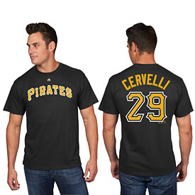 Pittsburgh Pirates Francisco Cervelli Name and Number T-Shirt