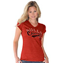 Chicago Bulls Ladies Touch Tri-Blend V-Neck T-Shirt