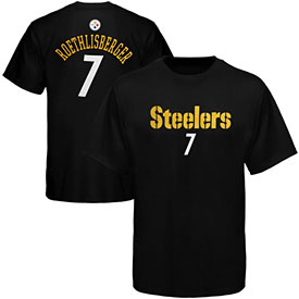 Pittsburgh Steelers Ben Roethlisberger Youth Primary Name and Number T-Shirt