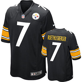 Pittsburgh Steelers Ben Roethlisberger Youth Game Replica Jersey
