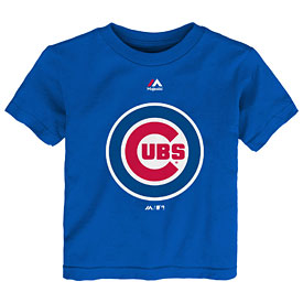 Chicago Cubs Preschool Bullseye Logo T-Shirt