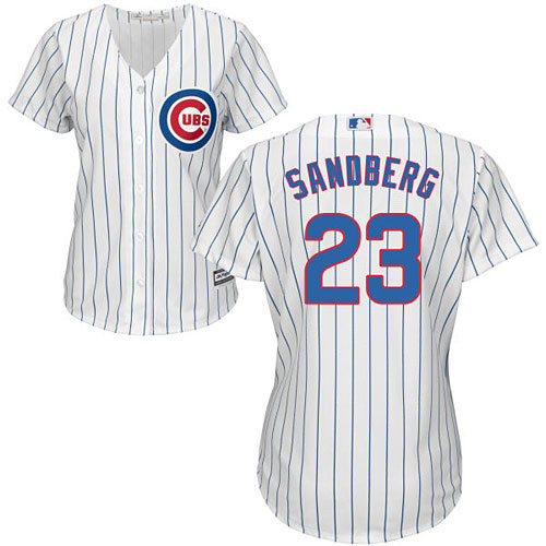 hot sale online 7d70a c8065 Chicago Cubs Ryne Sandberg Ladies Home Cool Base Replica Jersey