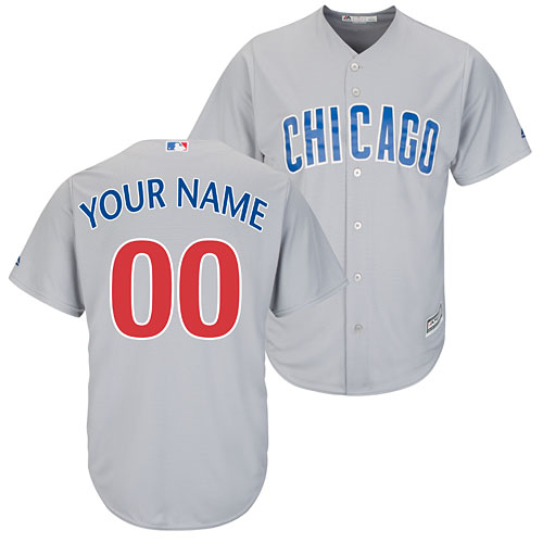 8fe2ffdc2 Chicago Cubs Customized Road Cool Base Replica Jersey