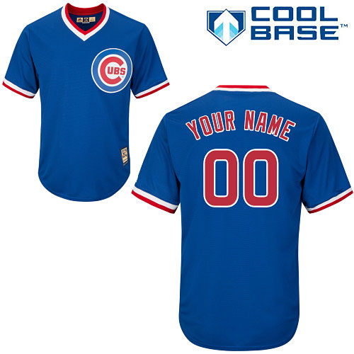 pretty nice 0a008 5ff8b Chicago Cubs Customized Alternate Cooperstown Cool Base Replica Jersey