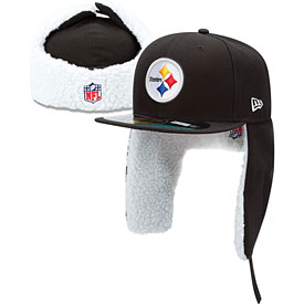 Pittsburgh Steelers Black Dog Ear 5950 Sideline Fitted Cap
