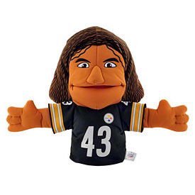Pittsburgh Steelers Troy Polamalu Player Hand Puppet