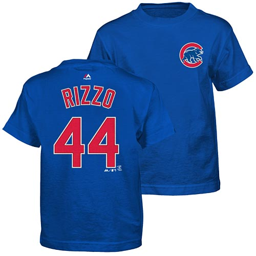 free shipping 06dc5 00405 Chicago Cubs Anthony Rizzo Preschool Name and Number T-Shirt