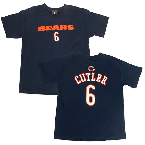 new concept 0e83b 4171f Chicago Bears Jay Cutler Youth Primary Gear T-Shirt