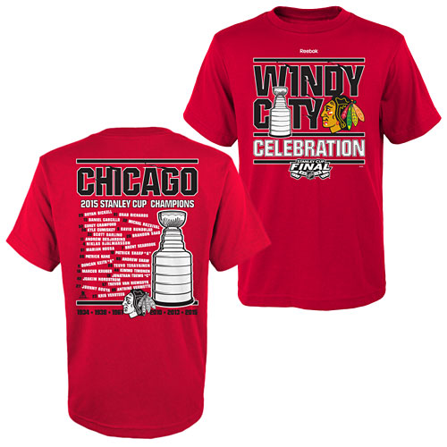 Chicago Blackhawks Youth 2015 Stanley Cup Champions Celebration T-Shirt