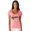 Chicago Blackhawks Ladies 2015 Stanley Cup Champions Touch Tri-Blend T-Shirt
