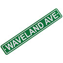 Chicago Cubs Waveland Ave. Plastic Street Sign